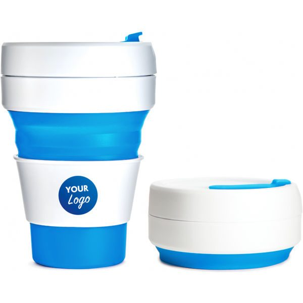 Collapsible Pocket Travel Cup blue