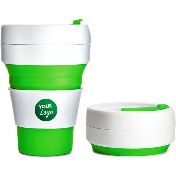 Collapsible Pocket Travel Cup green