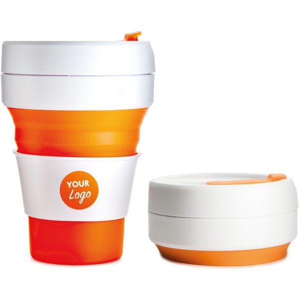 Collapsible Pocket Travel Cup orange