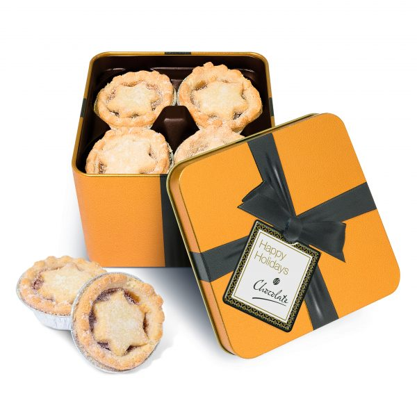 Gold Tin Large Mince Pies