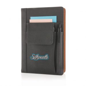 Notebook with phone pocket 3