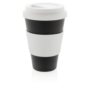 Branded eco fibre cup black