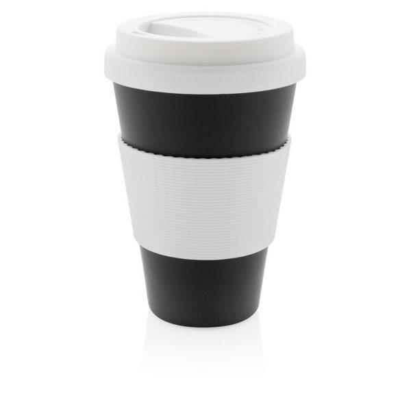 Branded eco fibre cup black