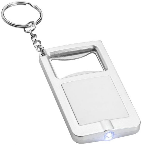 Keyring with light and bottle opener