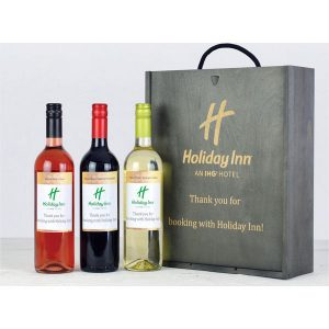 Personalised Wine Trio Gift Box