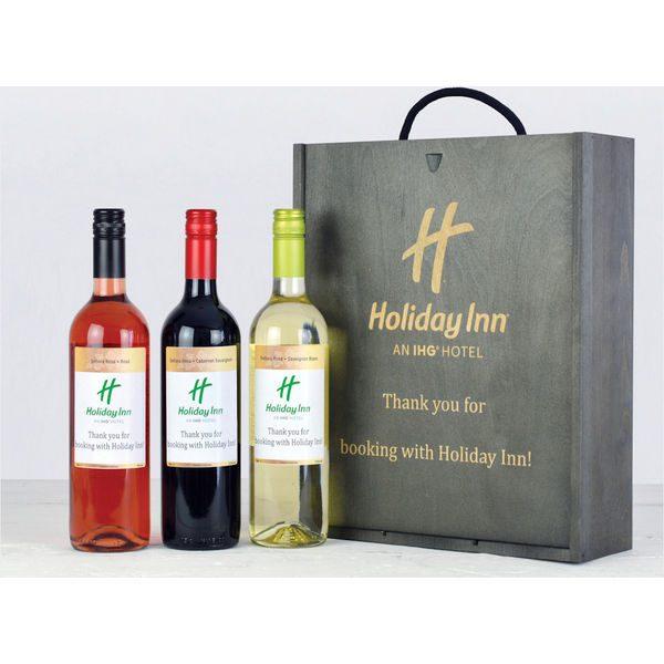 Personalised Wine Trio Gift Box