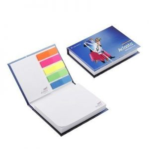 ADHESIVE NOTE COMBI PAD SET in Hard Cover