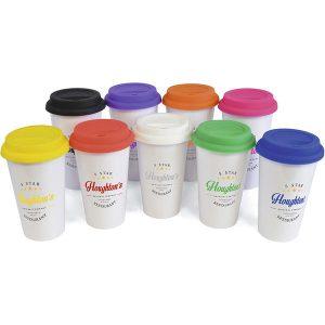 Plastic Take Out Mug Coloured