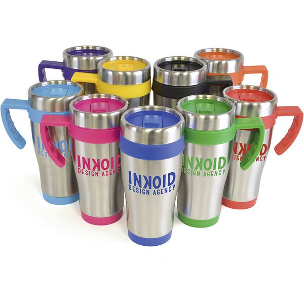 Stainless Steel travel mugs colour