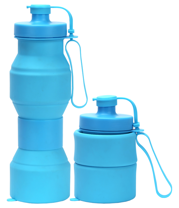 collapsible hourglass bottle