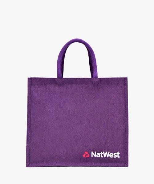 Natwest Printed Kipu Jute Bag