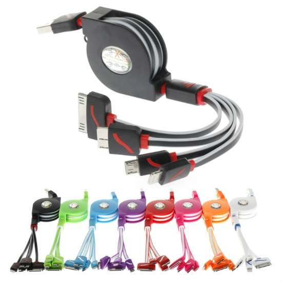 Stripy 4 in 1 Multi Cable 2