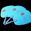 Custom Handheld Paddle Fan 3