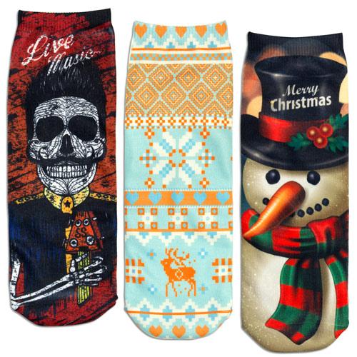Custom Printed Ankle Socks 2
