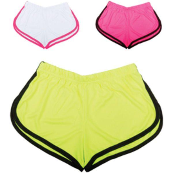 Ladies Fluorescent Sports Shorts
