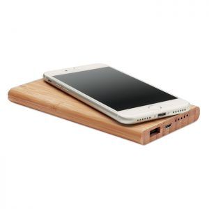 Bamboo Wireless Charger Powerbank 2