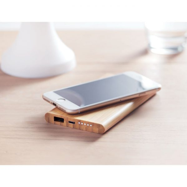 Bamboo Wireless Charger Powerbank 3