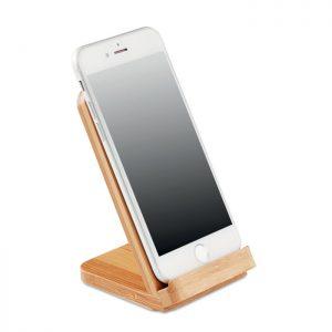 Bamboo Wireless Charging Phone Stand 2