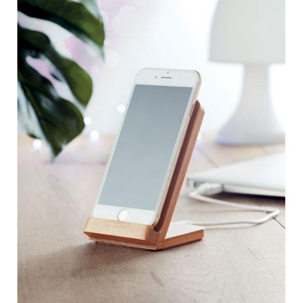 Bamboo Wireless Charging Phone Stand 3