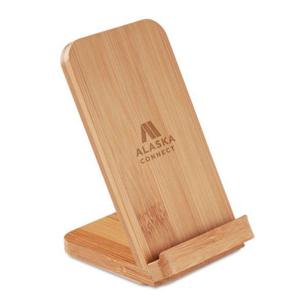 Bamboo Wireless Charging Phone Stand