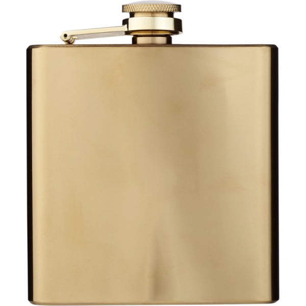 Gold Hip Flask 2