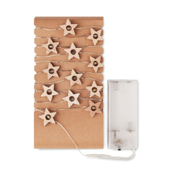 Wooden Star Fairy Lights 2