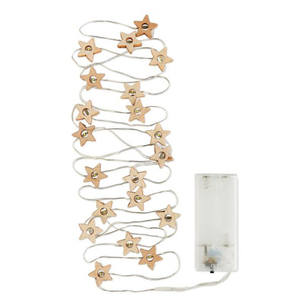 Wooden Star Fairy Lights 3