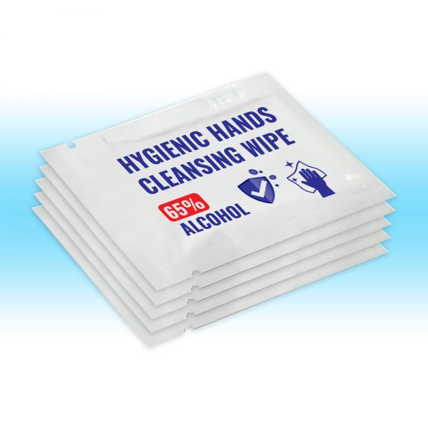 5x Hygienic hands Cleansing wipeSachet 1